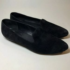 Eileen Fisher - Black Suede Loafers